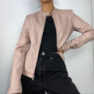 Express Pink Motto Jacket Size S - NWT